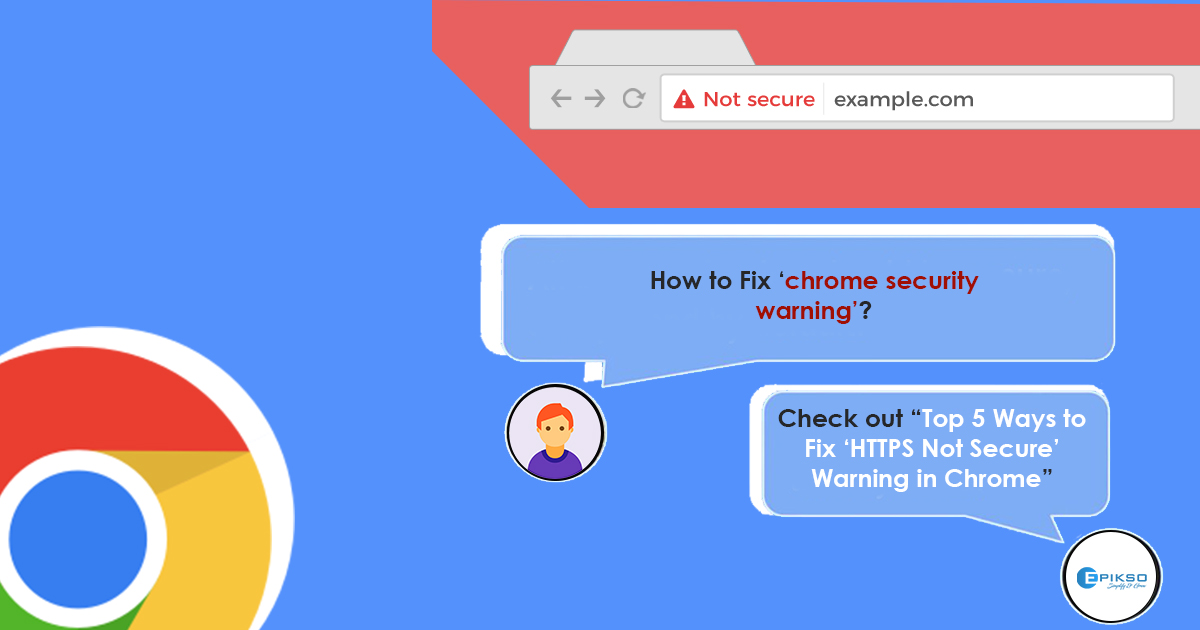 How to fix the https not secure message in chrome