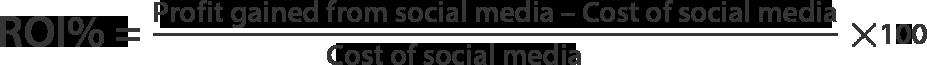 Social media ROI Calculation